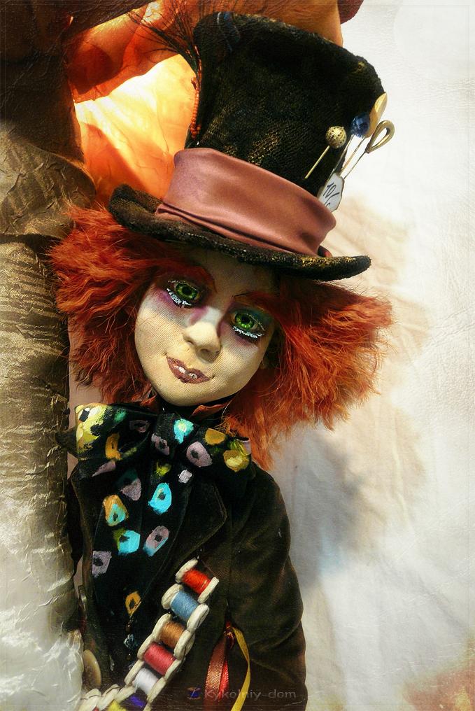 портретная кукла Джонни Депп. шляпник. Алиса в стране чудес. Джонни Депп.