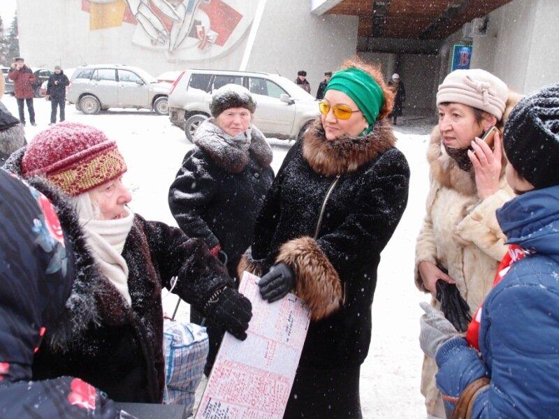 на митинге Матвеева была несколько иная аудитория