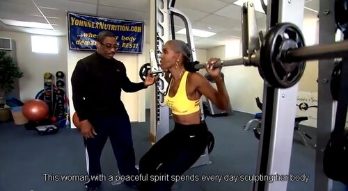 Спортивный образ жизни чудо-бабушки