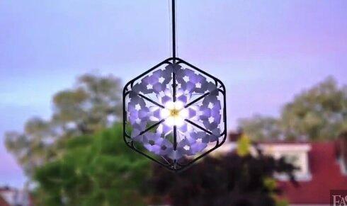 Необычный светильник - снежинка