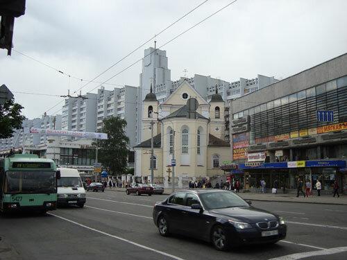 Отдых в Беларуссии: Минск, ул. Немига, церковь