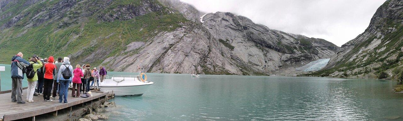 Озеро Нигардсбреватнет. Nigardsbrevatnet lake, panorama