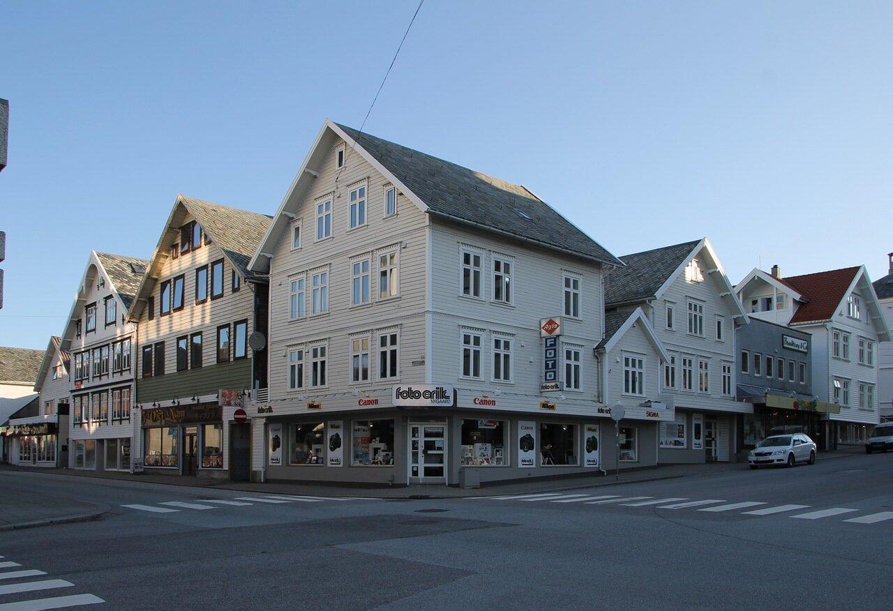 Haugesund. Shopping street Sørhauggata
