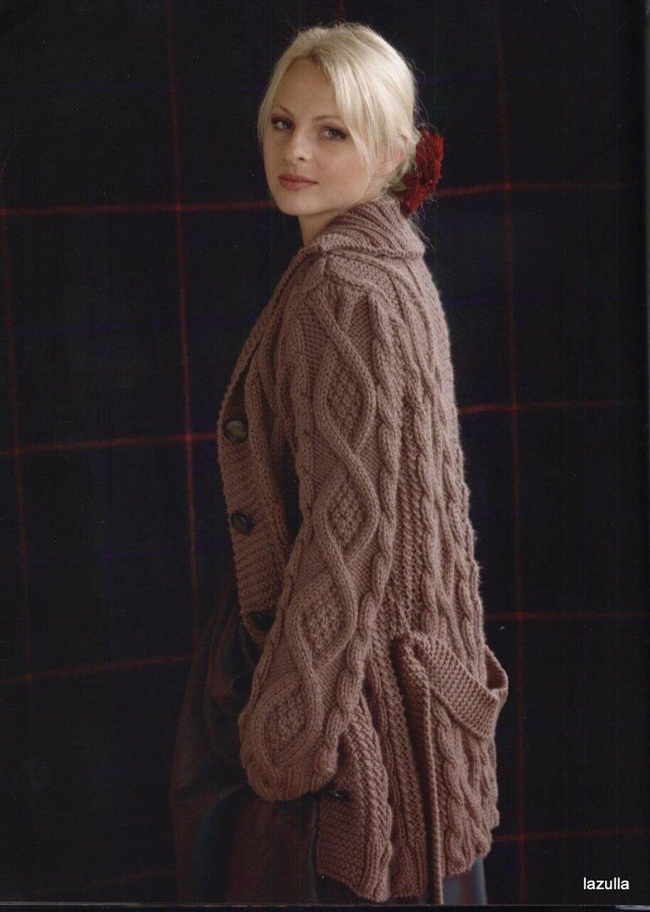 Шикарное пальто вязание спицами