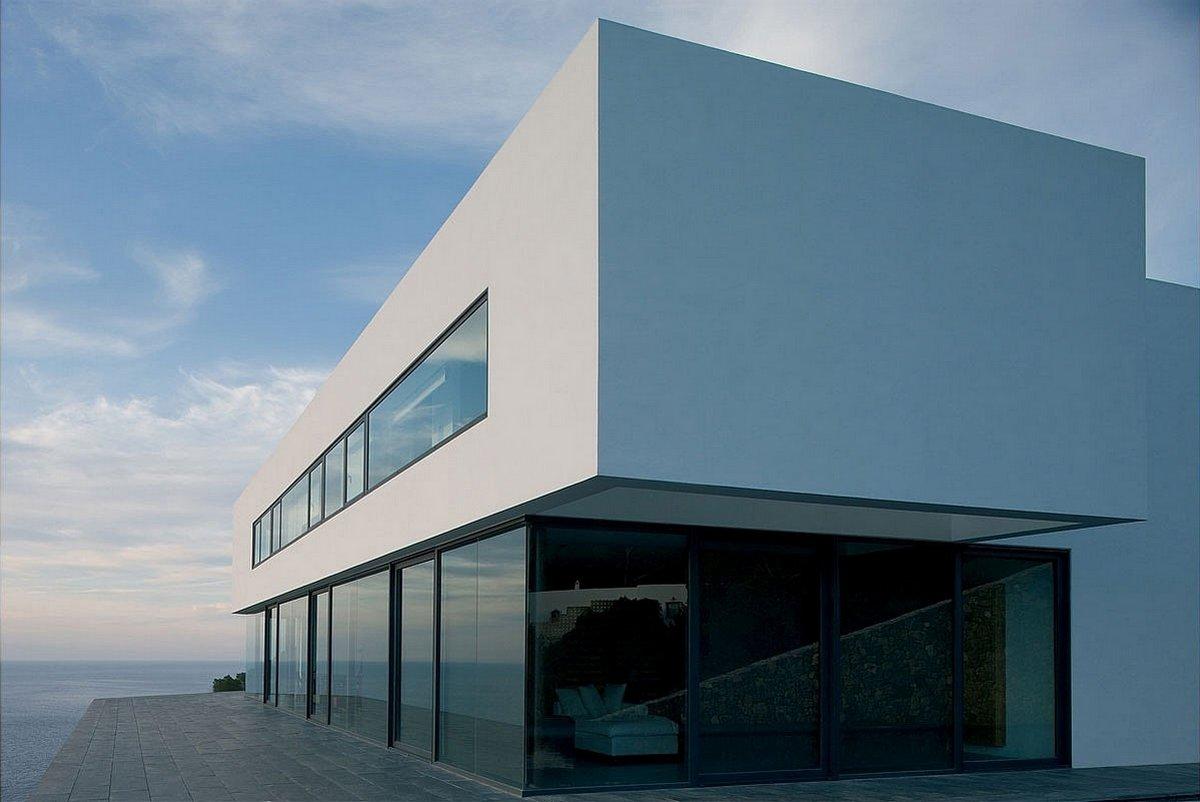 AABE, Atelier d'Architecture Bruno Erpicum & Partners, частный дом на Ибице, особняк Ибица, дом на вершине горы, дом  с видом на океан, особняк в Испании