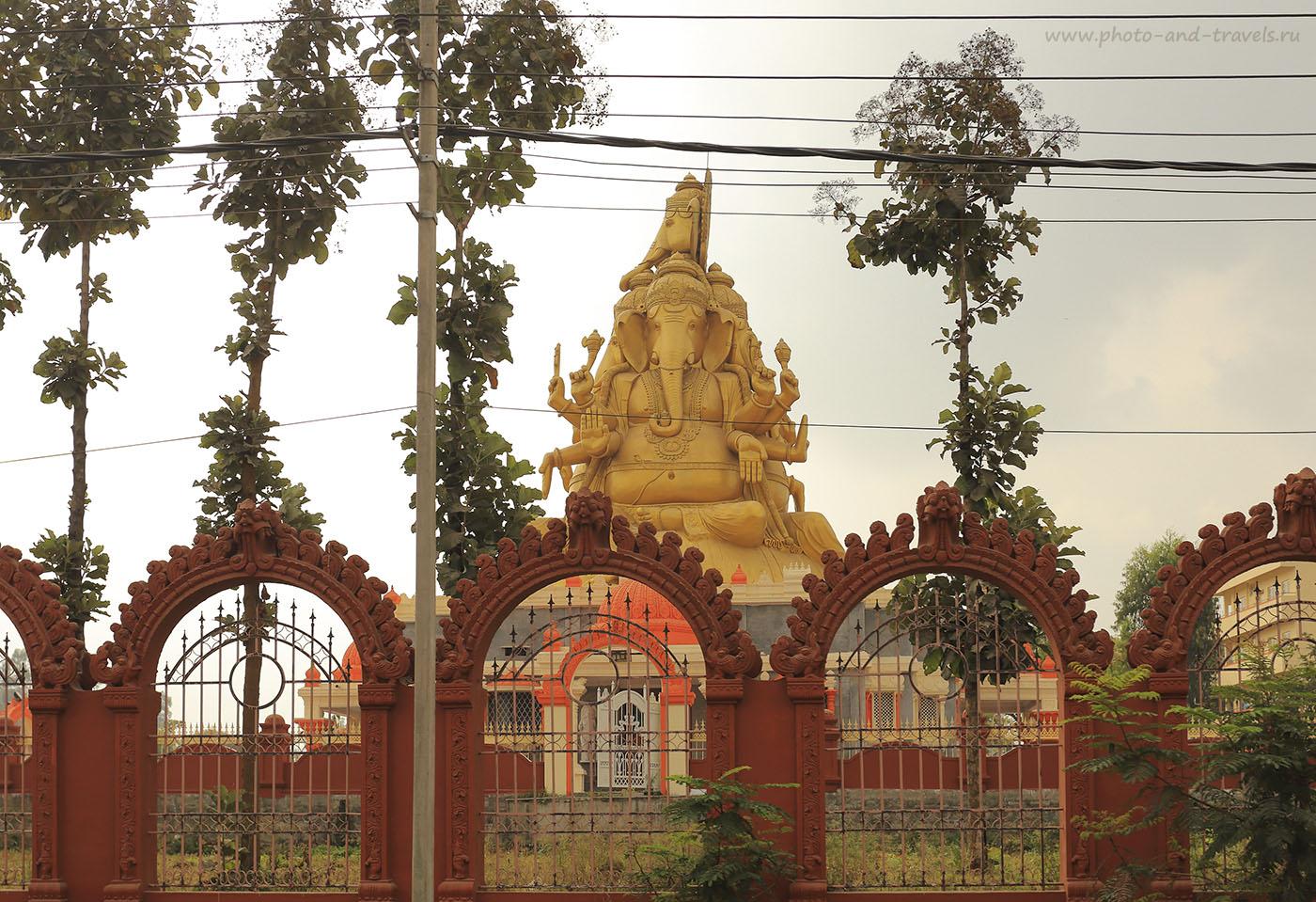 Фотография 2. Статуя Ганеши. Отдых в Индии. Поездка в Карнатаку. 1/200, +1 EV, f/6.3, 200, 40 mm