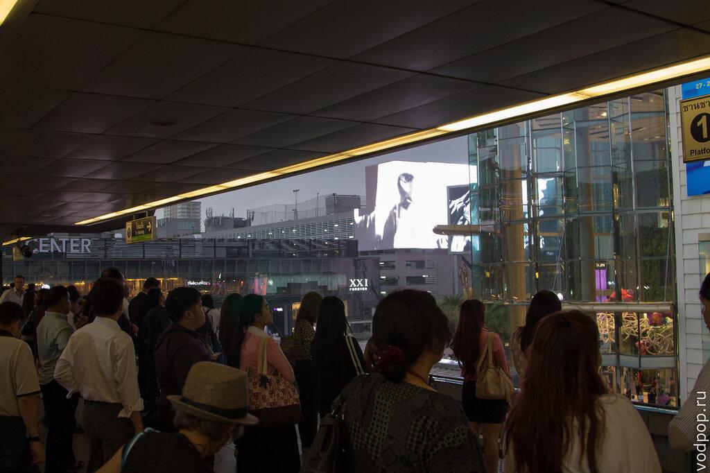 Час-пик в метро BTS в Бангкоке