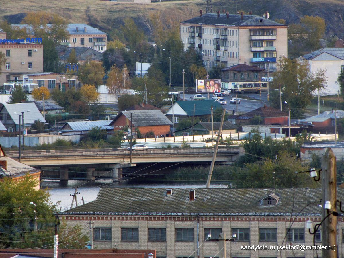 Вид на город Троицк с горы