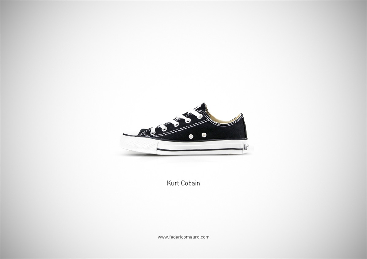Знаменитая обувь культовых персонажей / Famous Shoes by Federico Mauro - Kurt Cobain