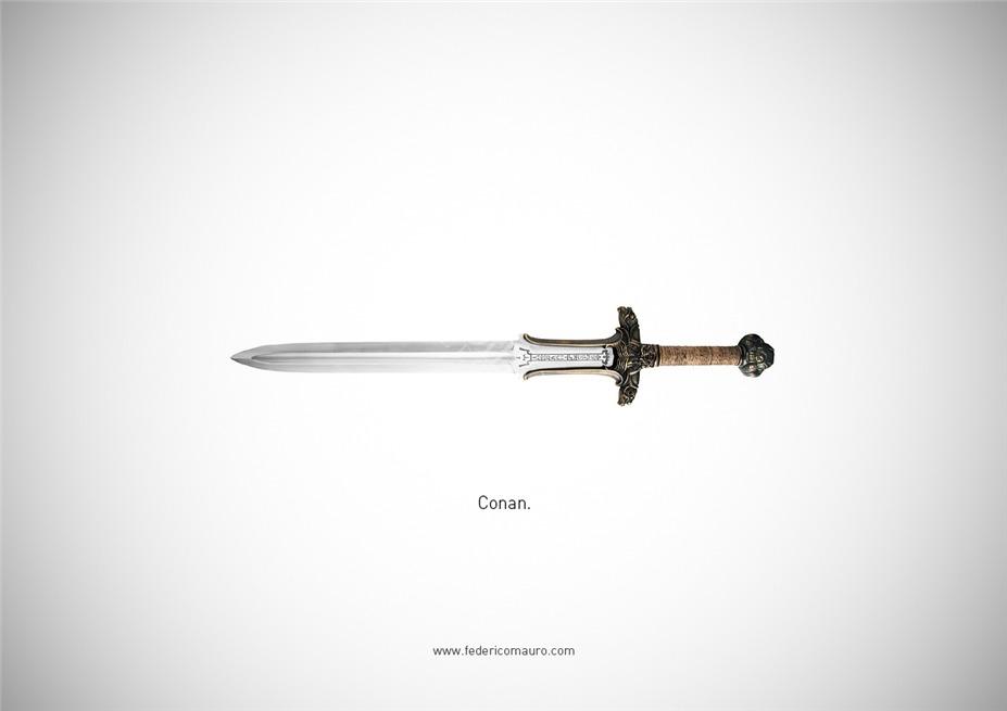 Знаменитые клинки, ножи и тесаки культовых персонажей / Famous Blades by Federico Mauro - Conan