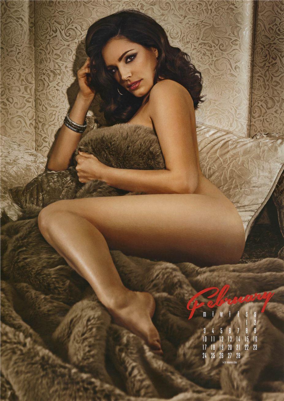 февраль - Календарь сексуальной красотки, актрисы и модели Келли Брук / Kelly Brook - official calendar 2014