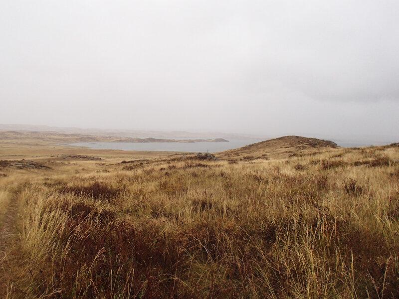озеро Кемерколь под дождем