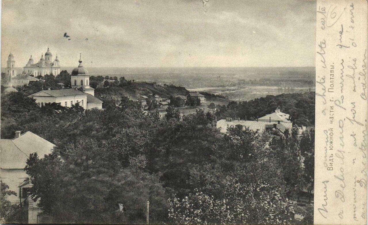 Вид южной части Полтавы