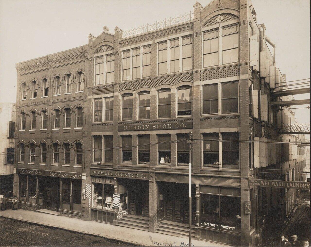 Внешний вид здания Durgin Shoe Co. Хаверхилл, Массачусетс