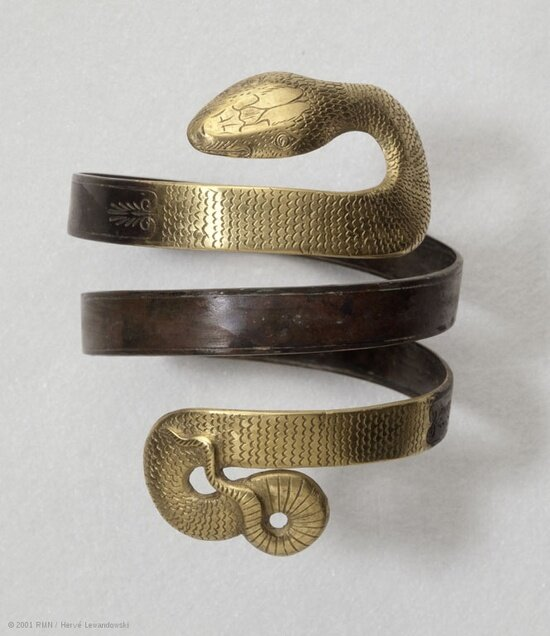 Serpentine bracelet, discovered near Corinth, Greece, 4th-3rd centuries BC