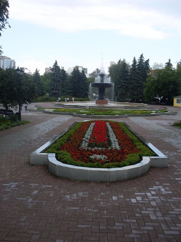 Прогулка по Екатеринбургу. Фонтан в дендропарке.