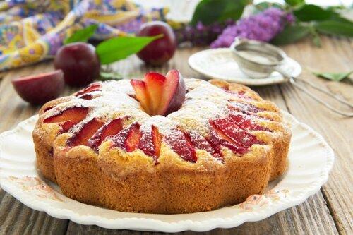 Plum cake.
