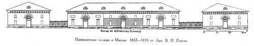 Провиантские склады в Москве, чертежи