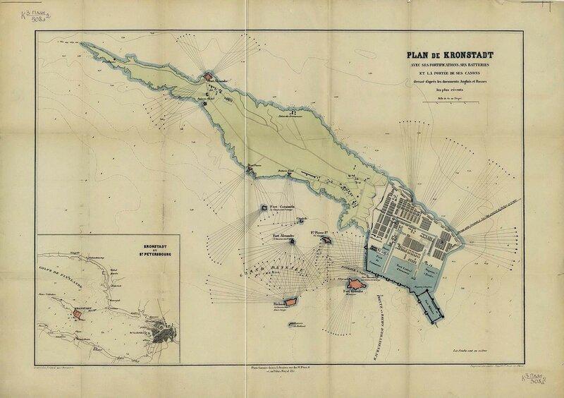 План Кронштадта. 1853 год.
