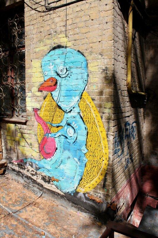 Граффити возле стены Цоя