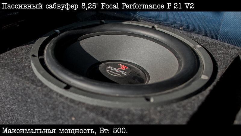"""Пассивный сабвуфер 8,25"""" Focal Performance P 21 V2"""