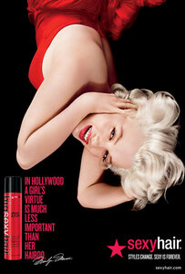 Marilyn Monroe / Мэрилин Монро в рекламной кампании средств для волос Sexy Hair / 2013 год