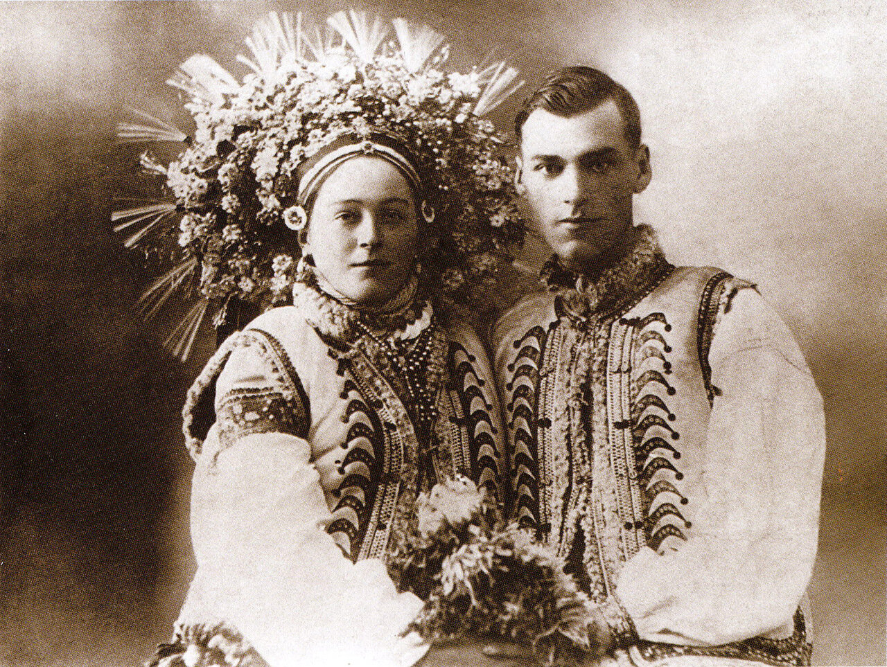 Свадебная пара. Село Космач Ивано-Франковской обл. 1920