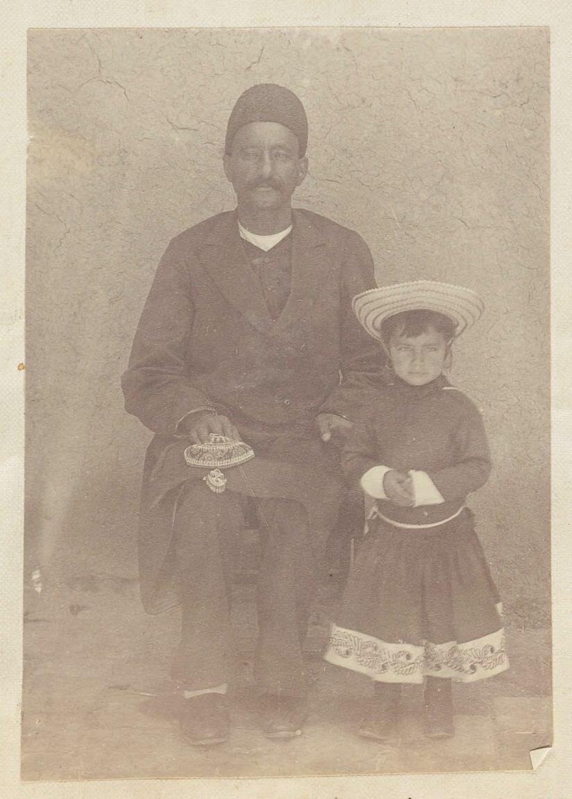 Саид Ака с дочерью Мирзы Асад Аллах Хана