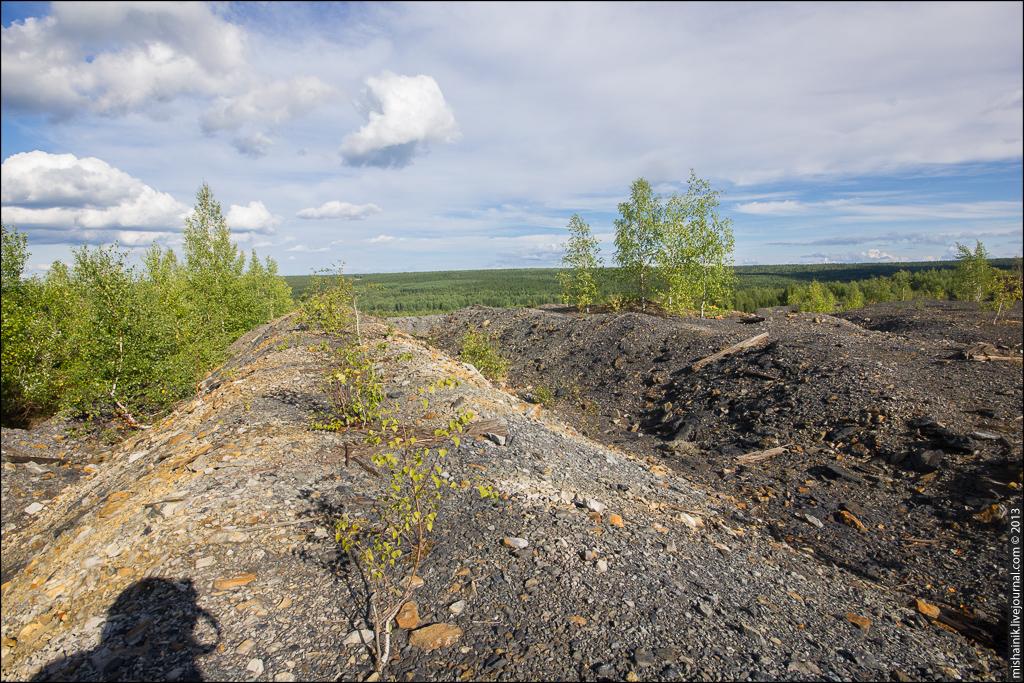 Заброшенная угольная шахта Кизеловского угольного бассейна