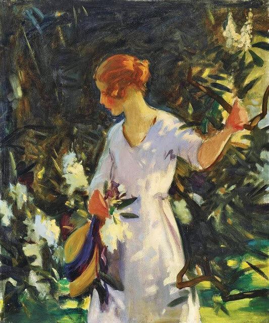 Женщина в саду.... // Подборка живописи