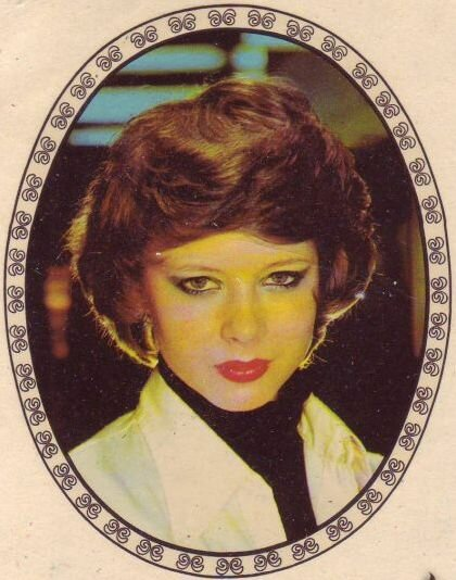 Переводная картинка из ГДР девушка 1979