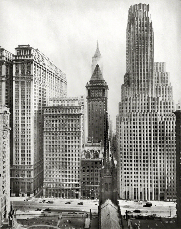 New York circa 1931. Irving Trust Building, 1 Wall Street