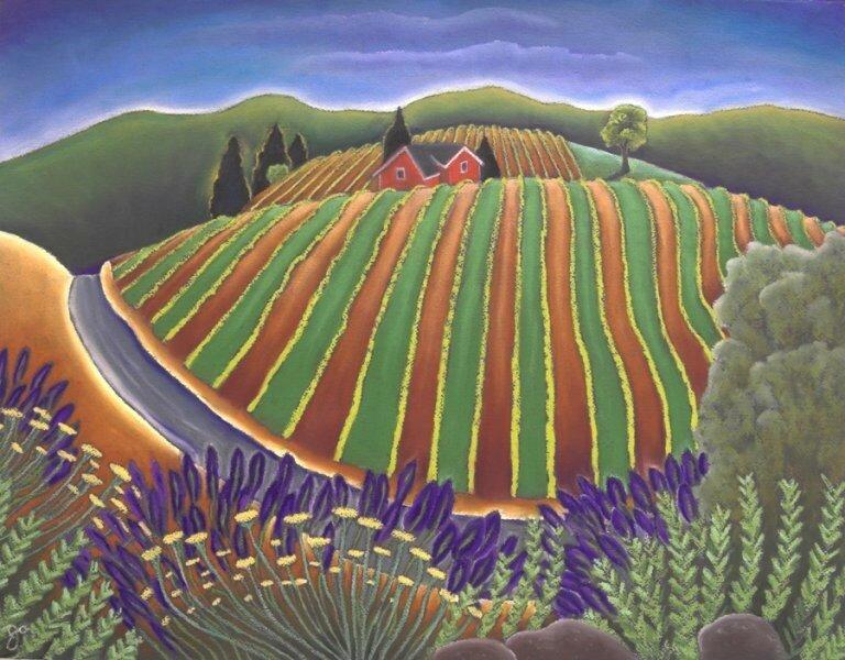 Природа разноцветный соткала ковёр. Художник Jane Aukshunas