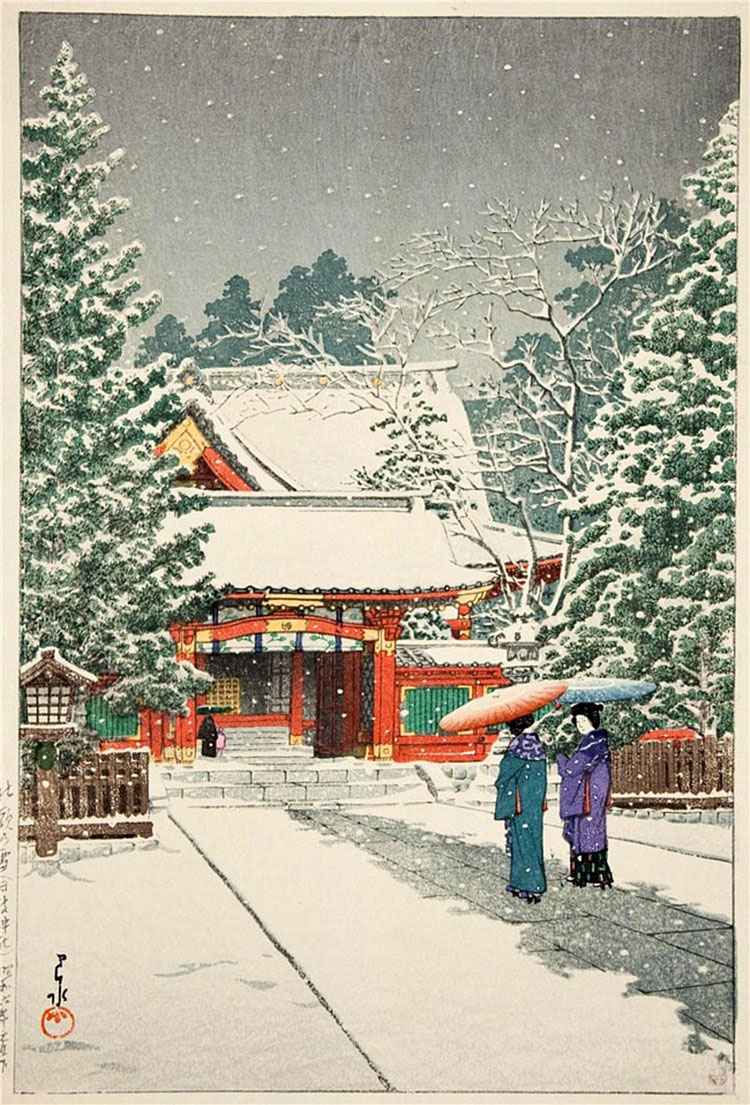 Hasui Kawase. Японская гравюра