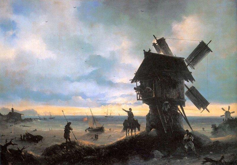 Айвазовский Иван Константинович,Ветряная мельница на берегу моря