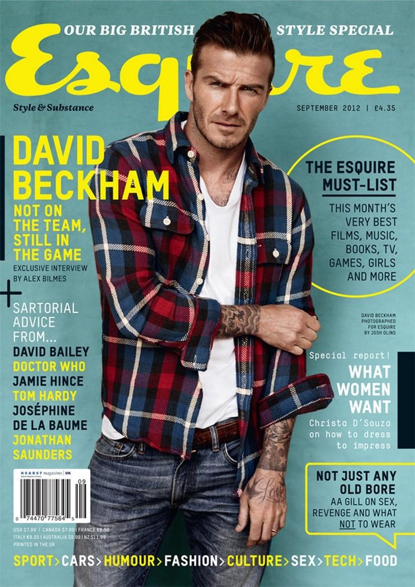 David Beckham / Дэвид Бекхэм в журнале Esquire UK, сентябрь 2012 / фотограф Josh Olins