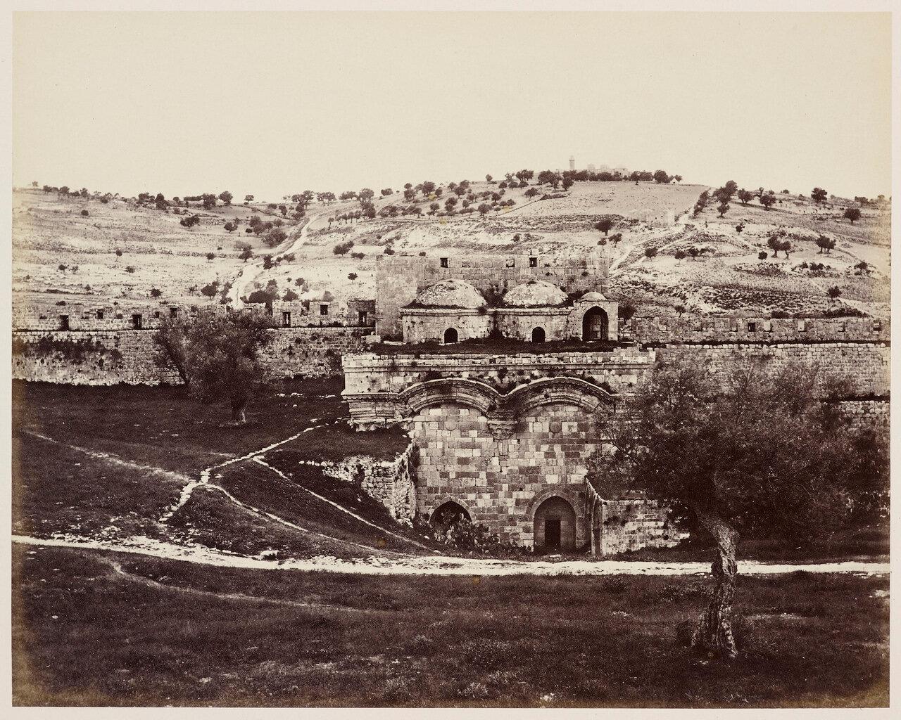 6 апреля 1862. Масличная гора от мечети Купол Скалы, Иерусалим