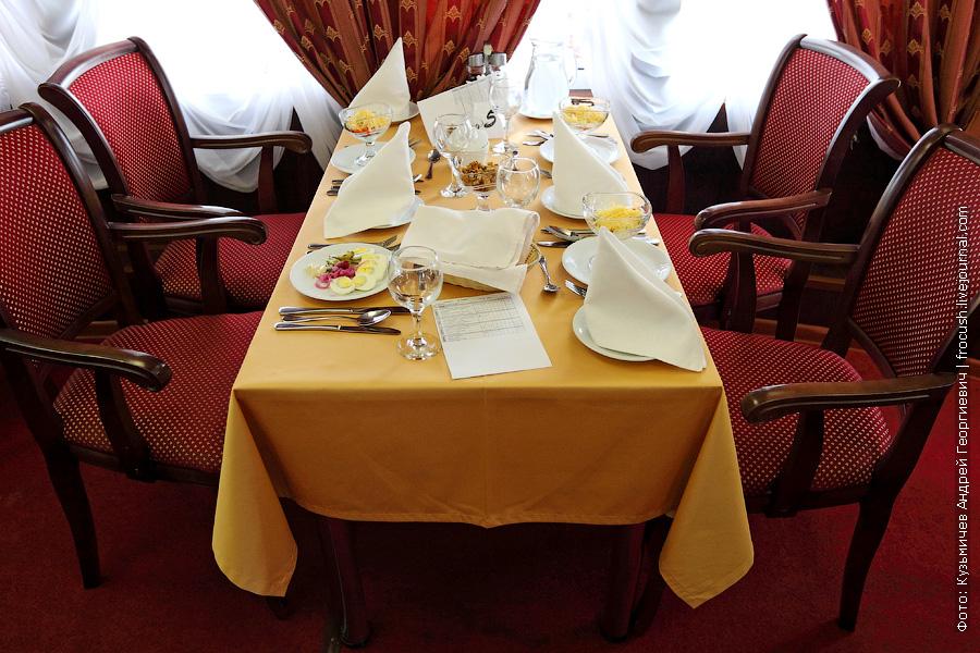 Заключительный обед на теплоходе «Василий Чапаев» во время круиза «На Вятку!»