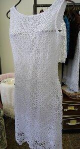 Кружевное платье крючком с острова Бурано