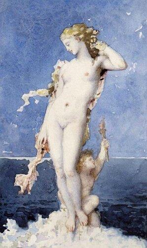 Французский художник Гюстав Моро Gustave Moreau (1826 - 1898) Афродита, 1870