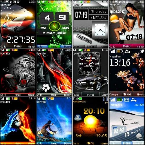 Подборка новых тем разного жанра для мобильных телефонов Nokia на платформе