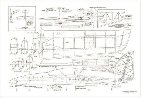 Радиоуправляемый самолёт чертежи