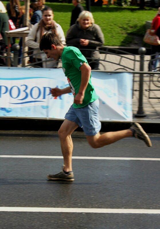 Участник забега Хрещата миля