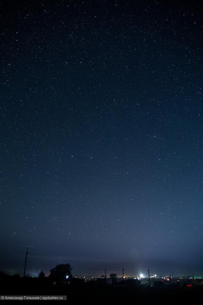 Звездное небо и метеоры