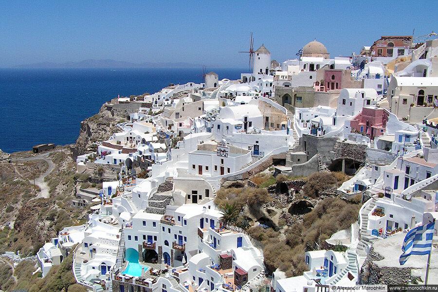 Белый и синий цвета Санторини