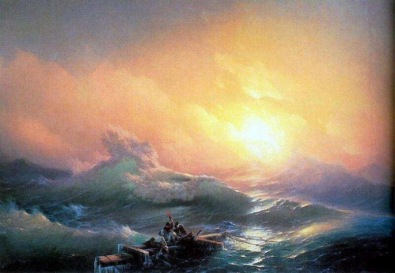 Девятый вал, Айвазовский, живопись