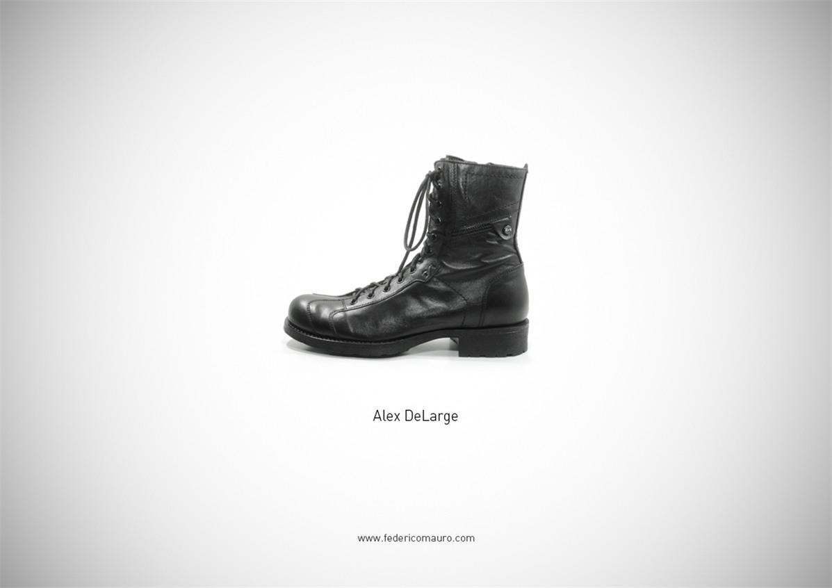Знаменитая обувь культовых персонажей / Famous Shoes by Federico Mauro - Alex DeLarge