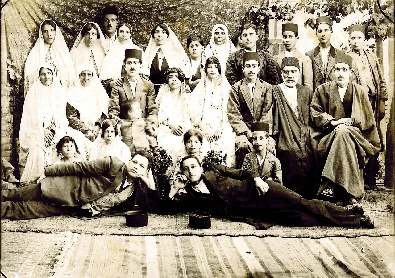 Свадьба Тахира и Туран Анавим, Тегеран, 1922