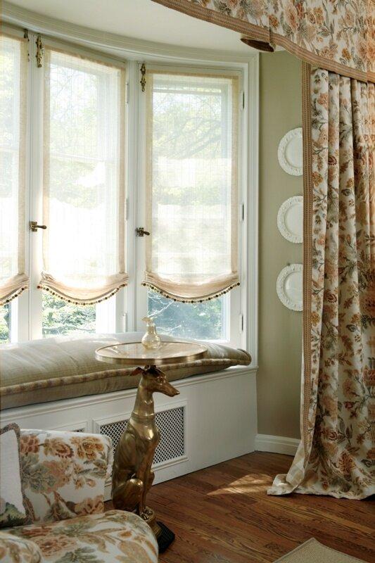 for Roman shades bay window