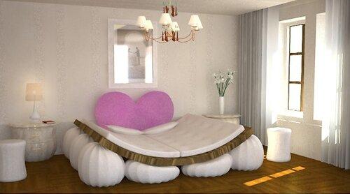 Оригинальная кровать для влюбленных